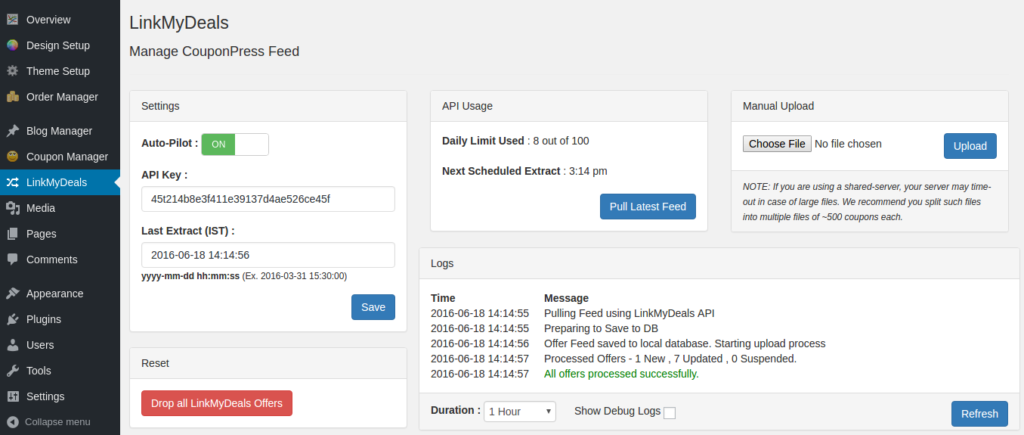 LinkMyDeals API WordPress Plugin