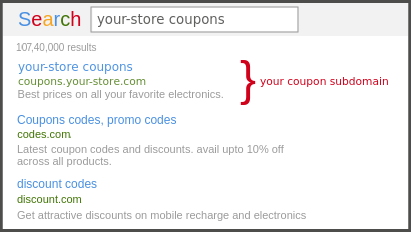 Coupon Subdomain