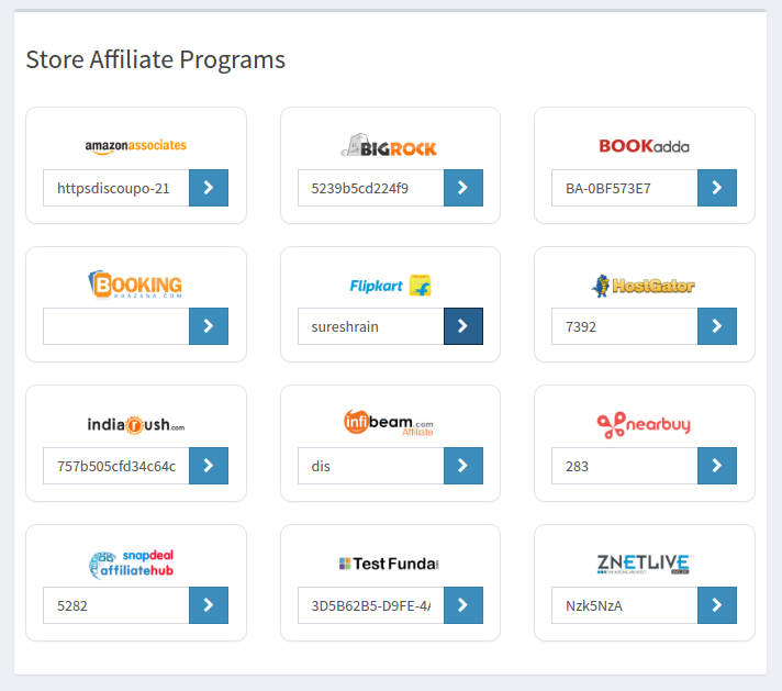 Manage multiple Affiliate Networks